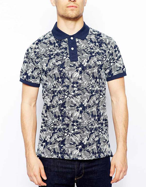c7767976 The Lakvold Group – Jack & Jones Polo Shirt With Tonal Floral Print